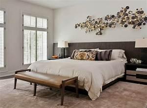 tete de lit et deco murale chambre en 55 idees originales With tete de lit decorative