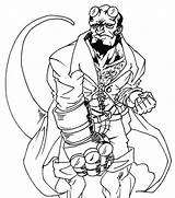 Hellboy Dibujos Colorear Kolorowanki Coloring Serres Poings Coloriage Dzieci Dla Drawing Superheroes Printable Pintar Oh Imprimer Gratuit Sc sketch template