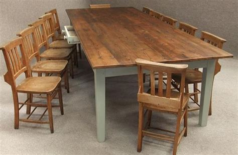 large wood dining table with bench large pine kitchen table to seat up to 12