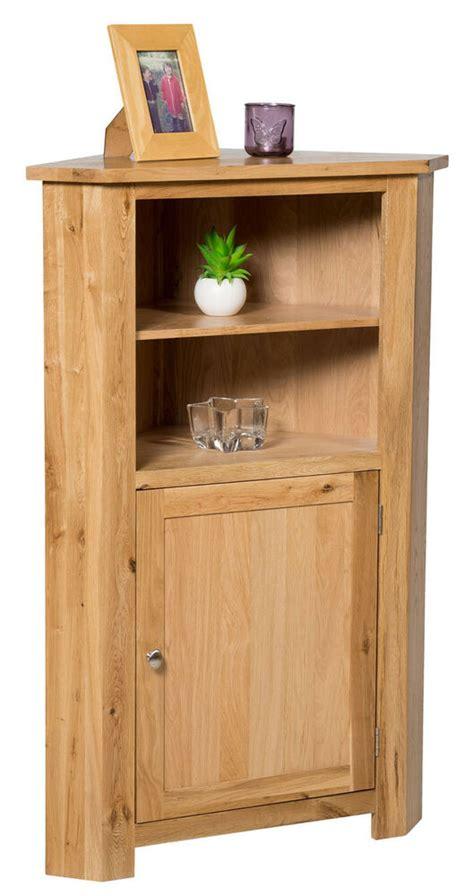Low Cupboards by Oak Corner Storage Cupboard Low Cabinet With Shelf
