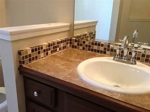 Tile Countertop and Backsplash - Traditional - Bathroom