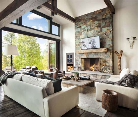 Modern Rustic Living Room Pictures by Rustic Modern Dwelling Nestled In The Northern Rocky Mountains