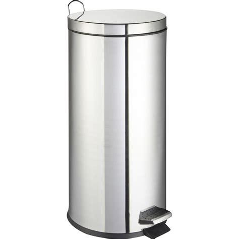 poubelle cuisine poubelle de cuisine à pédale frandis métal inox 30 l leroy merlin