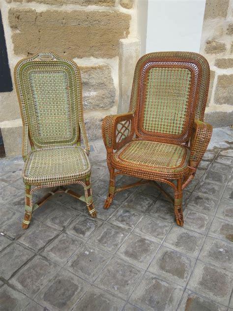 chaise en rotin but rattan armchair and chair perret vibert galerie vauclair