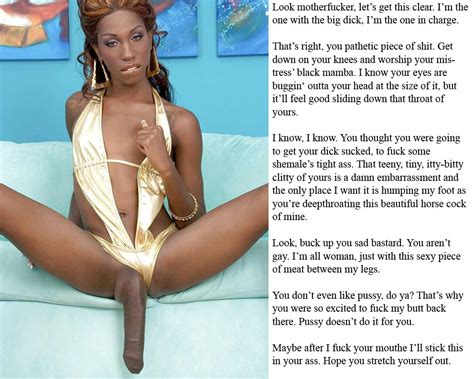 black shemale mistress captions