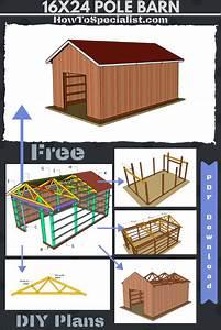 16 U00d724 Pole Barn  U2013 Free Pdf Download Plans