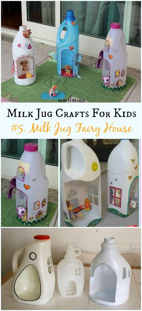 recycled milk jug crafts  kids
