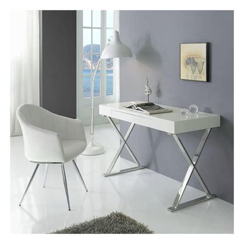 bureau verre blanc bureau verre design contemporain maison design bahbe com