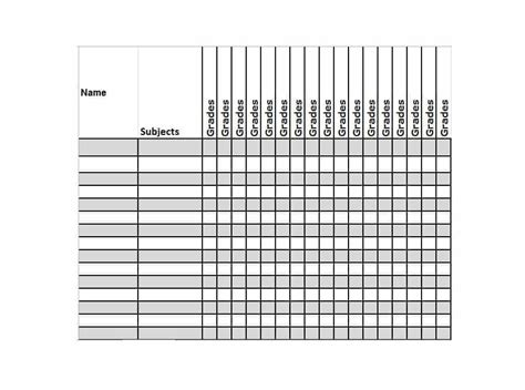 free gradebook template 30 free gradebook templates template archive