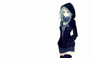 Anime Girls Blouse Green Eyes Green Hair High Boots J