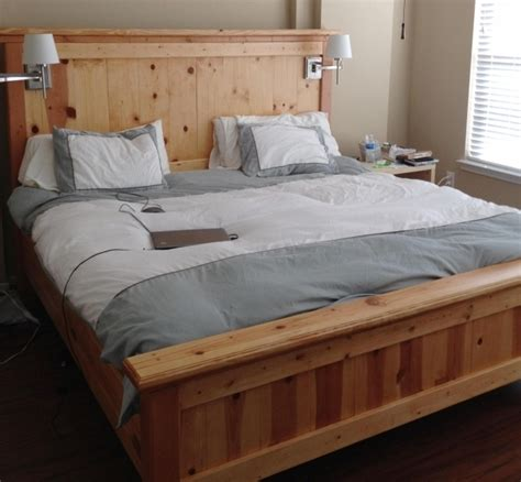 king size bed frame with headboard and footboard attachments diy wood king size bed frame with headboard and footboard