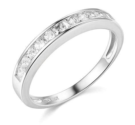 1 ct princess cut real 14k white gold engagement wedding anniversary band ring ebay