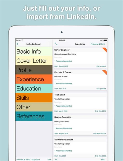 best resume builder app for resume template