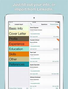 best resume builder app for ipad resume template With best resume builder app