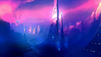Sci Fi Futuristic Cities Artwork Wallpapers Background