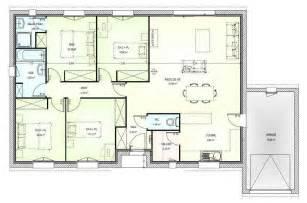 plan maison 6 chambres plain pied plan maison plain pied gratuit 4 chambres 2 plan maison