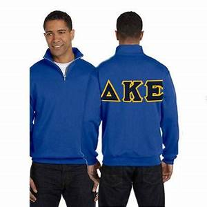 fraternity quarter zip with sewn on letters jerzees 995m With cheap greek stitched letter shirts