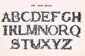antique alphabet printable ornate font knick of time With antique alphabet letters