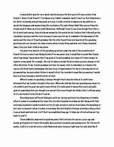 reflective essay english class five paragraph essay