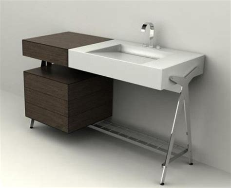 bath vanity with built in dressing table by dedecker