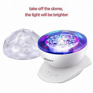 SOAIY Rotation Sleep Soothing Color Changing Aurora Night ...