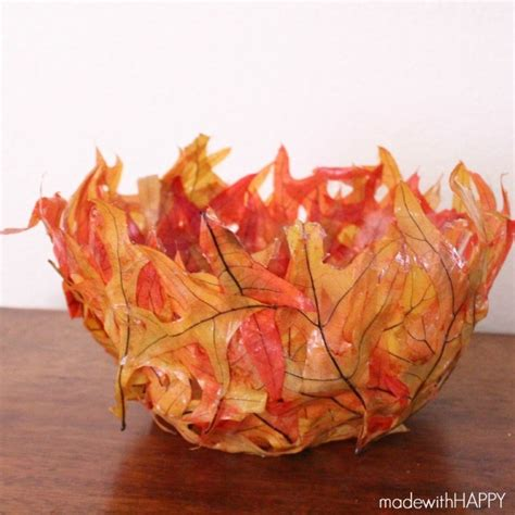 ls made from leaves hometalk how to make a fall leaf bowl