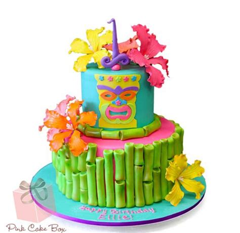 1000+ Images About Luau & Tiki Themed Cakes On Pinterest