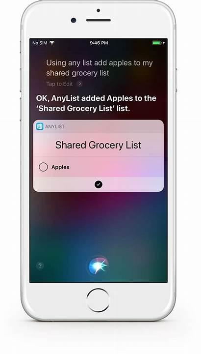 Anylist Shopping Siri Last Items Lists Allows