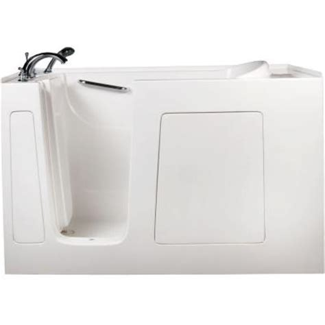 Home Depot Walk In Bathtubs by Allure Walk In Tubs 5 Ft Left Drain Walk In Whirlpool And