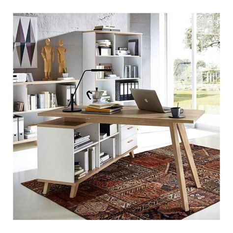 bureau angle droit bureau d 39 angle gauche ou droit scandinave avec rangements