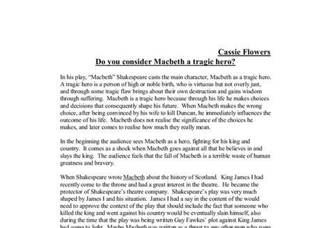 Macbeth Tragic Essay Thesis by Macbeth Not A Tragic Essays Traditional Kinds Of