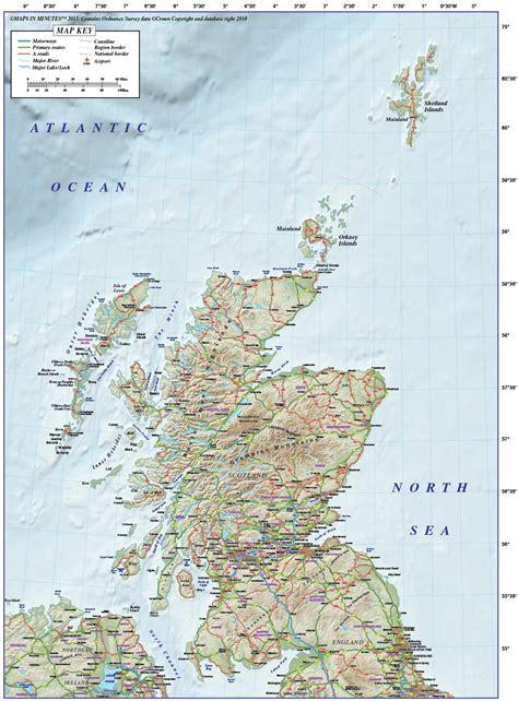 vector scotland regions road map  dpi high