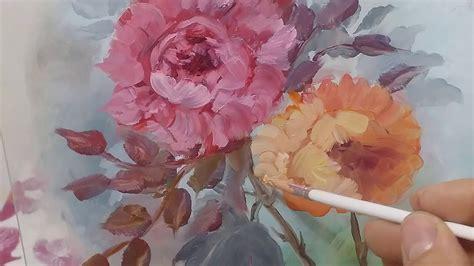 fiori ad olio dipingere ad olio fiori sul vetro