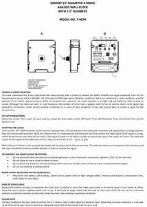 Ken Tech Atomic Radio Controlled Alarm Clock Manual