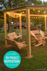 Diy Firepit Pergola For Swings  Instructions   Diagrams
