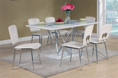 white high gloss dining table and 6 matching chairs