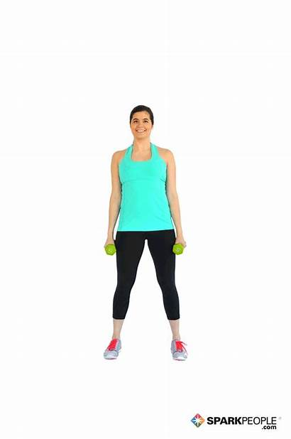 Dumbbell Exercise Squats Hammer Curls Sparkpeople Squat