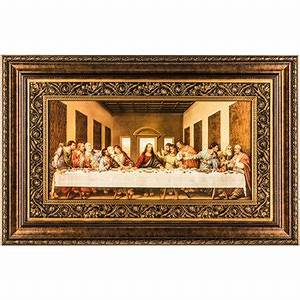 Last supper framed wall decor hobby lobby 214296 for Best brand of paint for kitchen cabinets with framed wall art sale