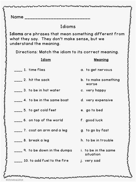 grade figurative language worksheets google search