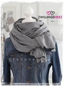 Kaschmir Schal Grau : xl schal zwillingsherz mit kaschmir grau strickschal jetzt g nstig kaufen ~ Orissabook.com Haus und Dekorationen