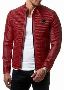 Veste En Cuir Rouge Homme : veste cuir slim fit homme hommes veste en cuir pu cuir homme vestes slim fit fourrure veste cuir hom ~ Melissatoandfro.com Idées de Décoration