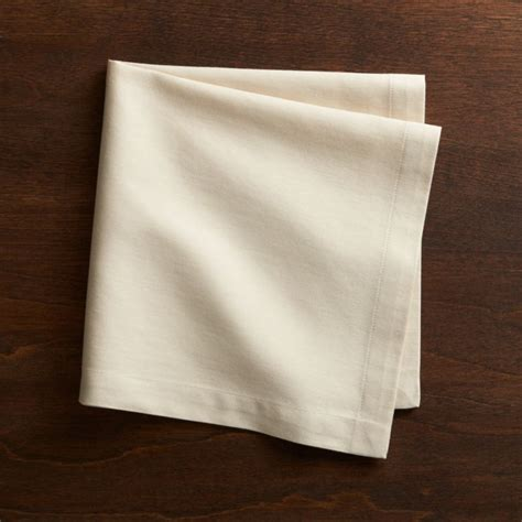 fete ecru ivory cloth napkin crate  barrel