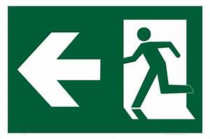 Emergency Exit Left Sign E1209 - National Safety Signs