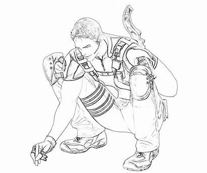 Evil Resident Coloring Pages Chris Redfield Printable