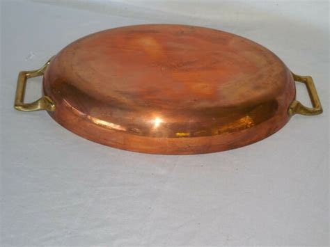 vintage pre owned paul revere limited edition copper pan  brass handles usa ebay
