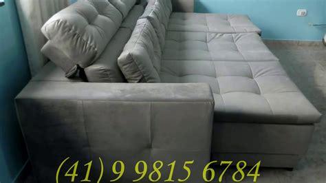 sofa retratil e reclinavel sofá retrátil com chaise long retrátil e cabeceira