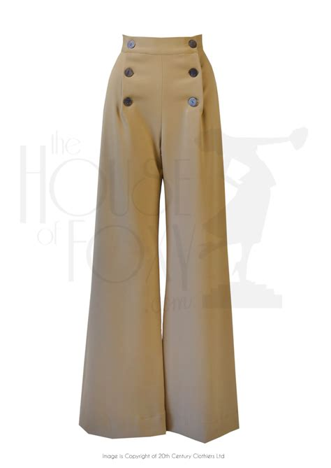 Women's 1940s Style Pants, Overalls, Blue Jeans