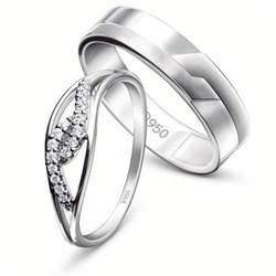 platinum rings bonded forever jl pt 455 certified by pgi jewelove
