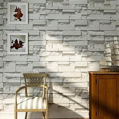 Bedroom Modern 33ft Textured Mural Brick Roll