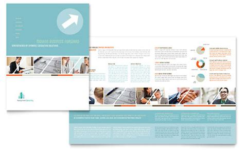 management consulting brochure template design